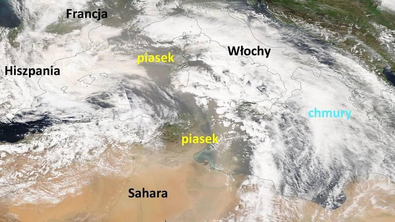 Pył saharyjski 2019 nad Polską. Nad region radomski nadciągają chmury piasku z Sahary. Burza piaskowa nad Radomiem?