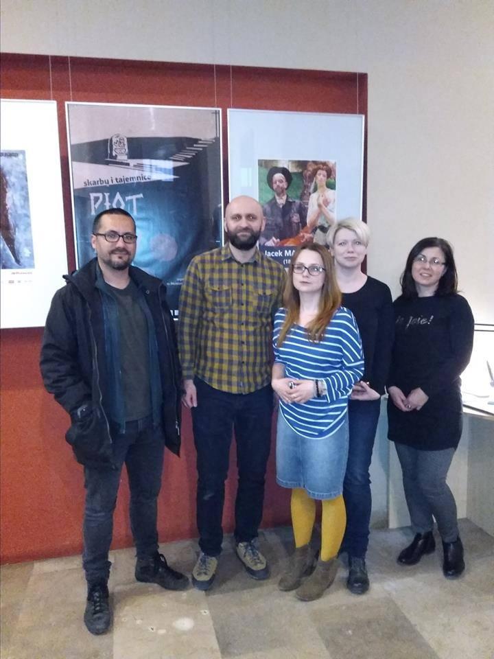 Uczestnicy sesji fotograficznej: od lewej Francisco Reina , fotograf z Mad Pixel, Damian Jendrzejczyk, Magdalena Nosowska, Paulina Szymalak - Bugajska,