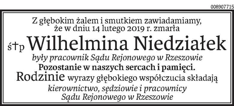 Nekrologi i kondolencje z dnia 19 lutego 2019 roku