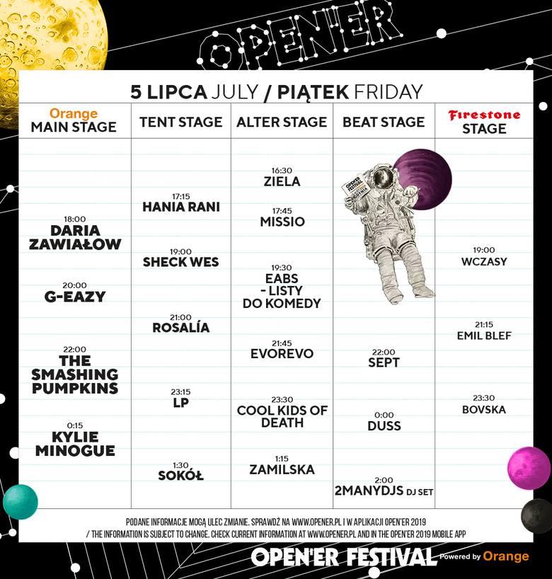 Open'er Festival 2019 - wykonawcy, artyści, line up. Kogo zobaczymy na scenie w Gdyni Kosakowo?