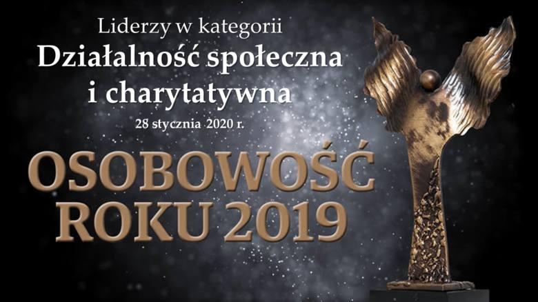 Osobowość Roku 2019 - liderzy w województwie dolnośląskim. Kategoria Działalność Społeczna i Charytatywna
