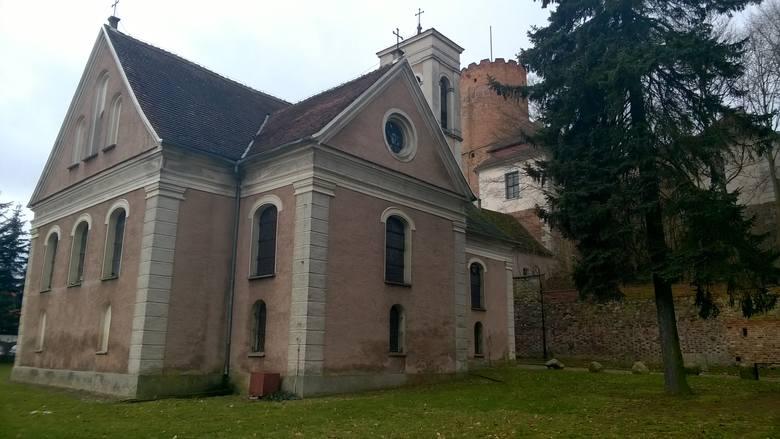 Kościół przy Zamku Joannitów w Łagowie.