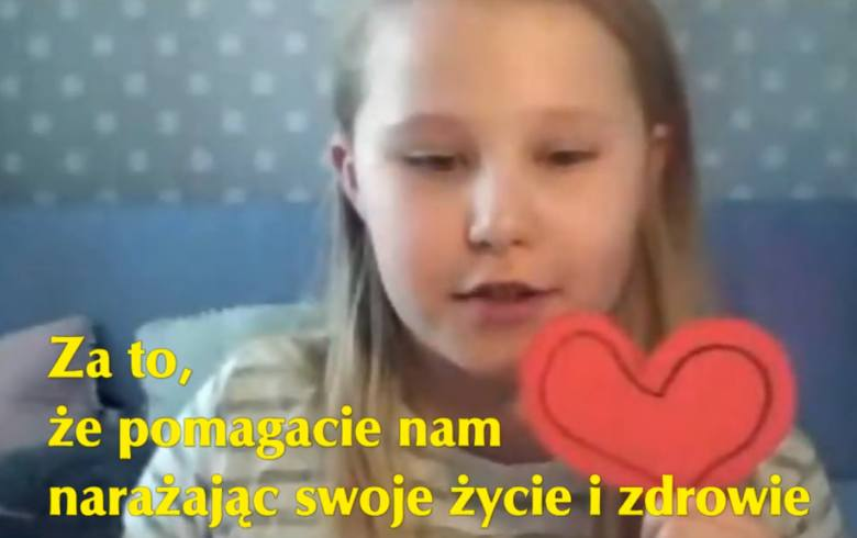 Dzień Pracownika Służby Zdrowia. Uczniowie Szkoły Podstawowej nr 5 w Ostrołęce złożyli wyjątkowe życzenia. 7.04.2021