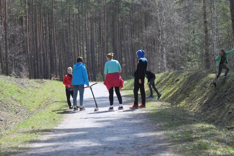 Tłumy ludzi wykorzystały niedzielną, prawdziwie wiosenną pogodę i wyruszyły na spacer Geościeżką Dawna Kopalnia Babina na Łuku Mużakowa w Łęknicy.Mieszkańcy
