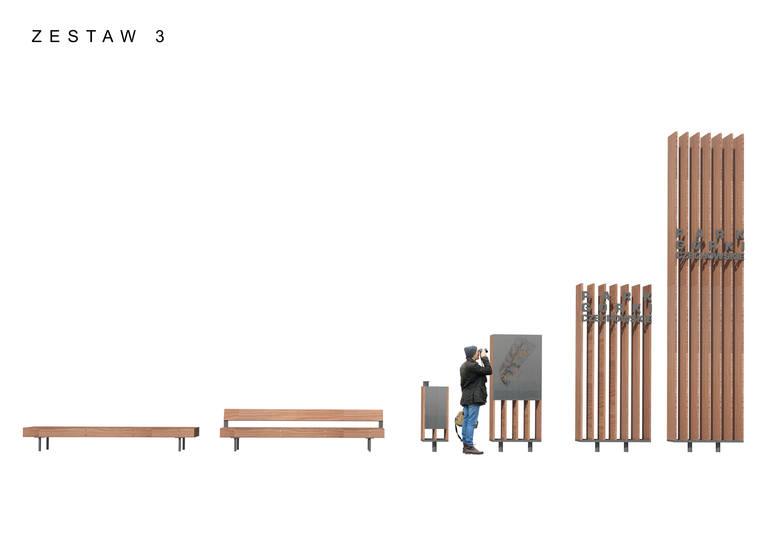 Setki ławek i latarni czyli mała architektura w parku na górkach