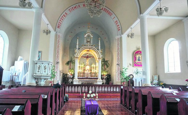 Wnętrze mariawickiego kościoła św. Franciszka