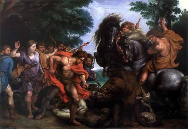 """""""Lowy Atalanty i Meleagra"""", Abraham van Diepenbeeck, XVII w."""