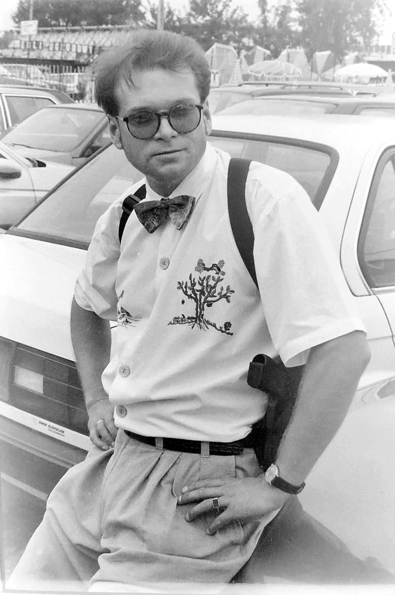 Rok 1990, Wiedeń - podczas  poszukiwań skradzionego  na autogiełdzie porsche.