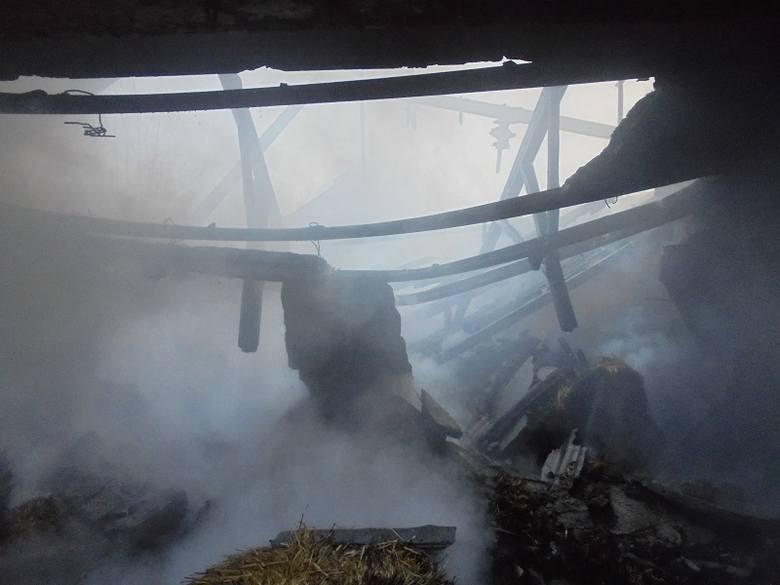 Nastolatek podejrzewany o spalenie budynku w gminie Waśniów [ZDJĘCIA]