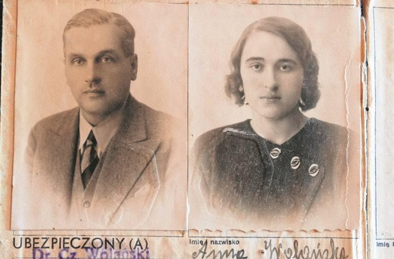 Czesław z żoną Anną. Zdjęcia z 1936 r. z legitymacji ubezpieczeniowej.