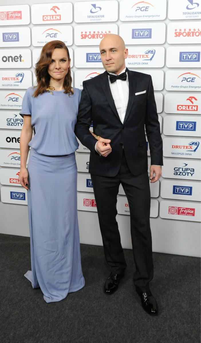 Bal Mistrzów Sportu. Na zdjęciu: Maja Włoszczowska z mężem