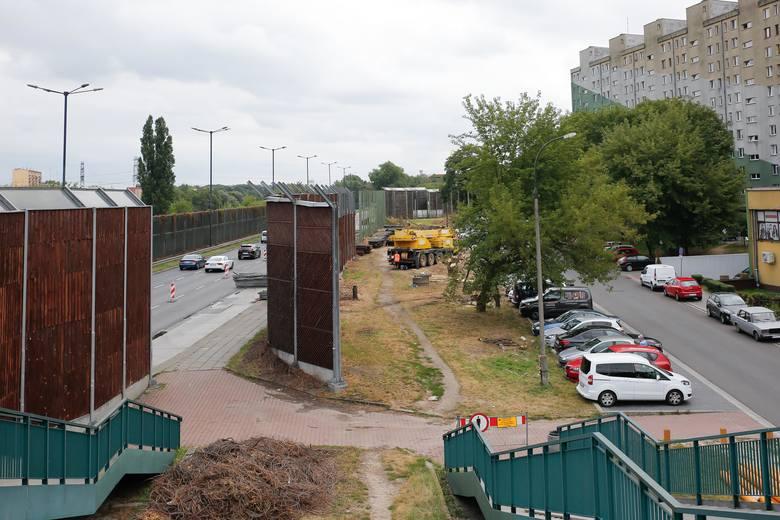 Budowa linii tramwajowej na Górkę Narodową, rejon ulicy Opolskiej
