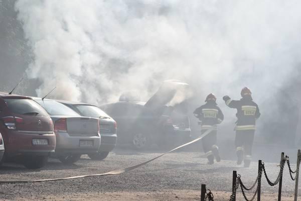 Pożar taksówki