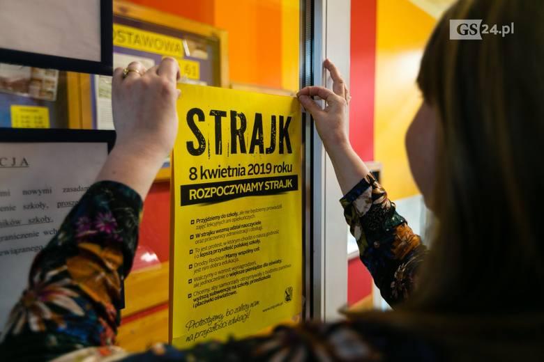 Strajk nauczycieli w Szczecinie