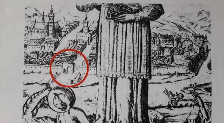 """Na stronie małopolskiego konserwatora czytamy: """"Bramę Glinianą widać na XVII-wiecznej grafice: J. A. """"Kwiatki liliowe, albo modlitwy"""
