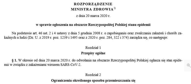 Koronawirus. Polska w stanie epidemii. Nowe zasady handlu w galeriach, wojewoda może delegować osoby do zwalczania zarazy