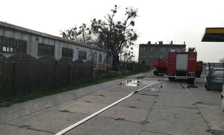 Z pożarem w Warlubiu walczyło 10 zastępów straży.