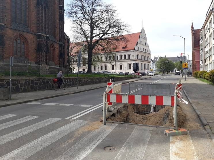 Ulica Krzywoustego w Stargardzie jest przebudowywana