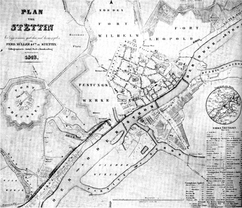 Skok do XIX wieku, czyli Szczecin opasany ciasnym gorsetem fortów. Z dala od to Fort Prusy (dziś to teren kwartałów Narutowicza, Kusocińskiego, Sowińskiego