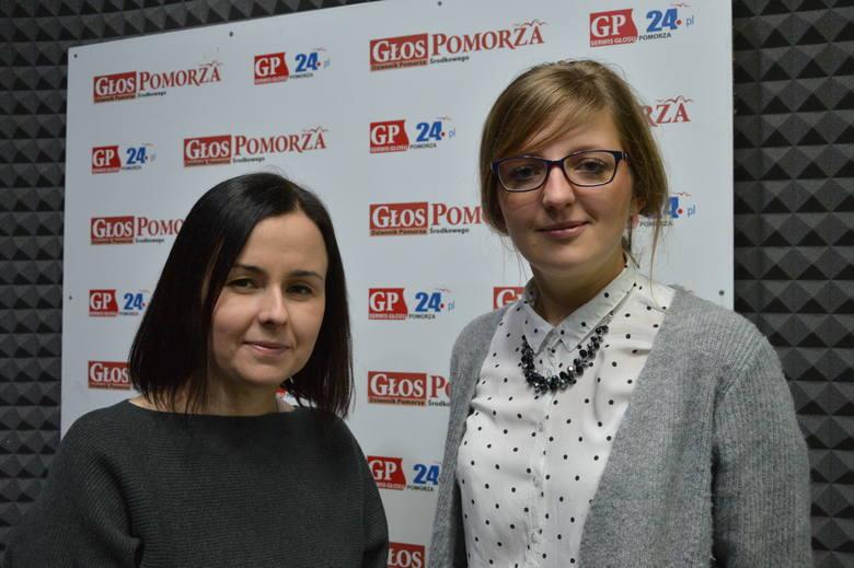 Od lewej: Agnieszka Kałuża-Horbaczewska i Monika Skwarek, nauczycielki matematyki w ZSI w Słupsku