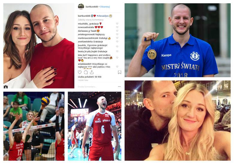Bartosz Kurek, zawodnik Stoczni Szczecin, oświadczył się swojej partnerce Annie Grejman, a ona powiedziała... TAK!  Szczęśliwą nowinę siatkarz ogłosił