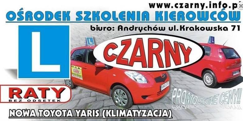 Kategoria: Szkoła jazdy RokuOSK Czarny, Andrychów, ul. Krakowska 71, pow. wadowickiSzkoła nauki jazdy OSK Czarny mieści się na ul. Krakowskiej 71 w Andrychowie.