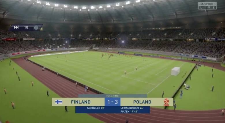 FIFA 20. Polska dwukrotnie ograła Finlandię. Zagrali Krzysztof Piątek i Krystian Bielik przeciw Finom. Komentował Dariusz Szpakowski