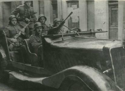 Szprotawscy milicjanci w 1945 roku