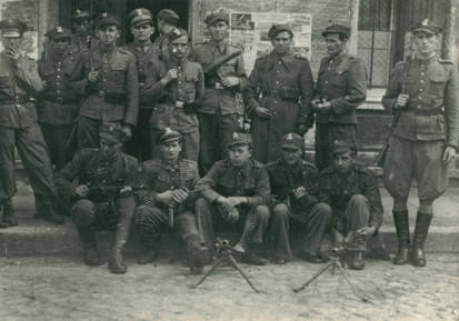 szprotawscy milicjanci w 1945 lub 1946 roku