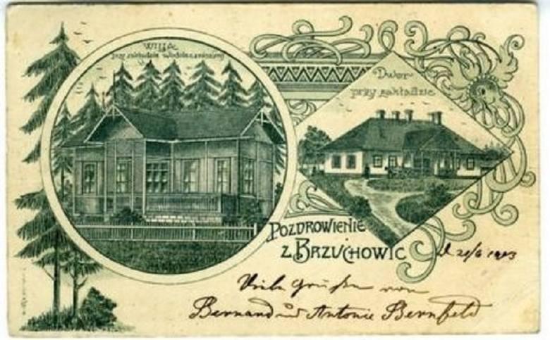 Brzuchowice były wsią letniskową. Przekonują o tym chociażby ówczesne pocztówki.