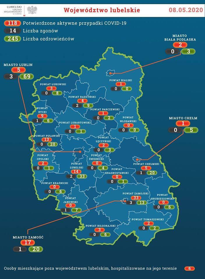 W Polsce zmarło 20 kolejnych osób z koronawirusem. Jest też 187 nowych zakażeń