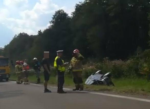 Miecze. Wypadek na drodze krajowej 61 między Grajewem a Rajgrodem [ZDJĘCIA]
