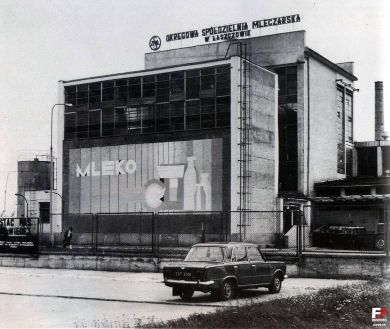 Nieistniejąca już Okręgowa Spółdzielnia Mleczarska w Łaszczowie (pow. tomaszowski)Zdjęcie z roku: 1979