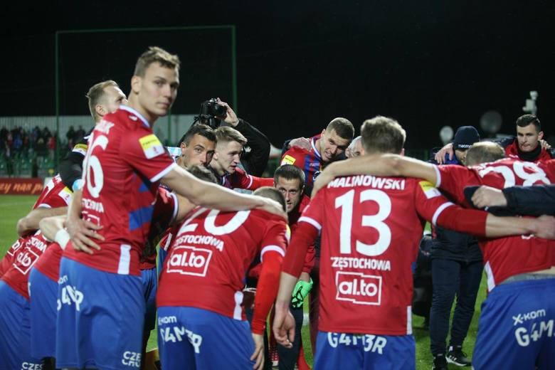 Raków Częstochowa to jedyny przedstawiciel Fortuna 1 Ligi