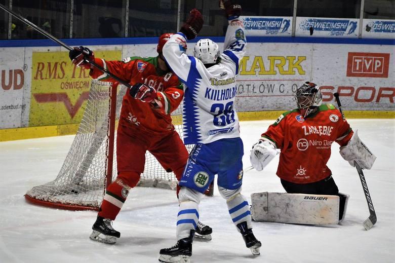 Hokej. Unia Oświęcim pokonując Zagłębie Sosnowiec przeszła próbę charakteru, meldując się w ćwierćfinale