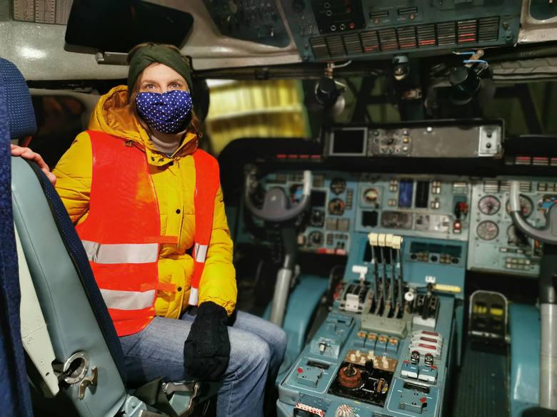 Autorka tekstu w samolocie Antonow Rusłan