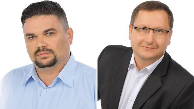 """Burmistrz Mariusz Piątkowski (z prawej) złożył skargę do pracodawcy radnego Krzysztofa Skrzynieckiego na jego zachowanie. Radny uważa, ją za próbę """"zdyskredytowania,"""