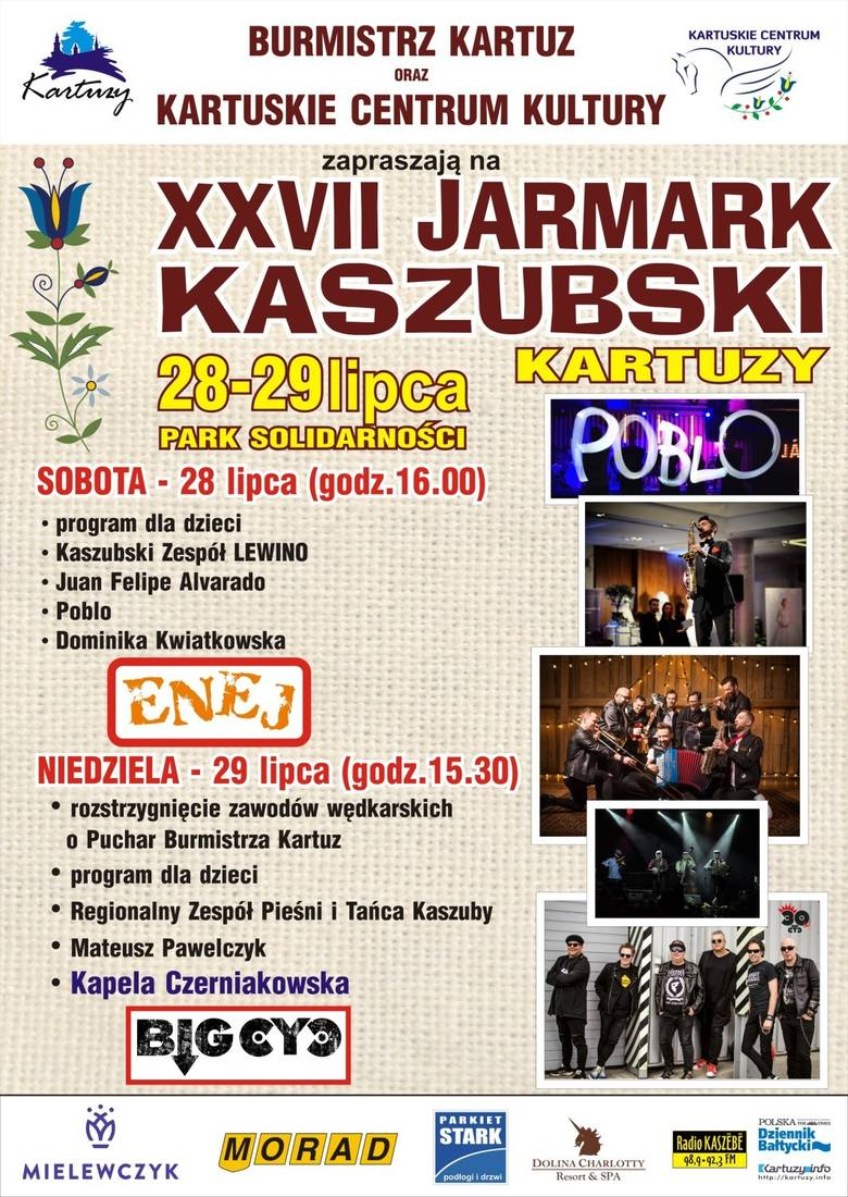 Jarmark Kaszubski w Kartuzach z zespołem Enej i Big Cyc