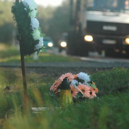 Zniczy, które znaczą miejsca tragedii jest na naszych drogach stanowczo za dużo. Na zdjęciu szosa w pobliżu Sudołu