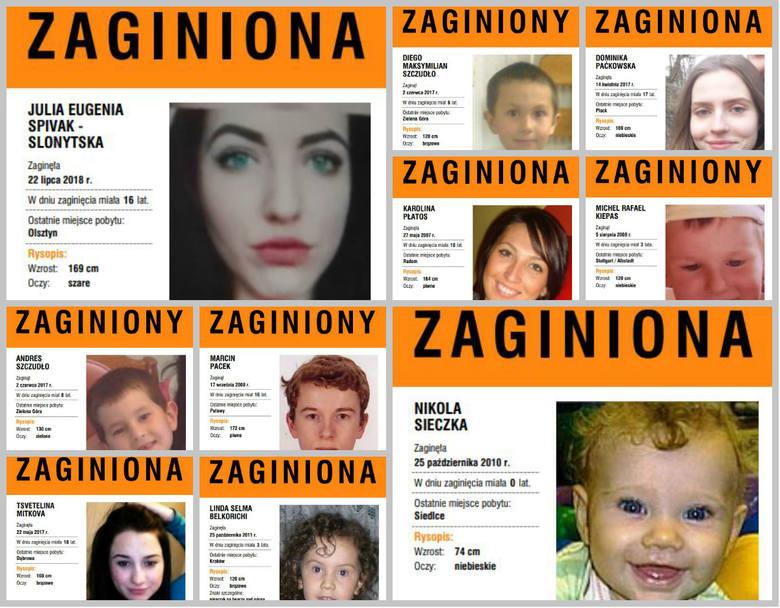 Zaginione dzieci w Polsce. Ich rodziny ciągle czekają na informacje! Pomóż dzieciom wrócić do domu [Zdjęcia] [Plakaty]