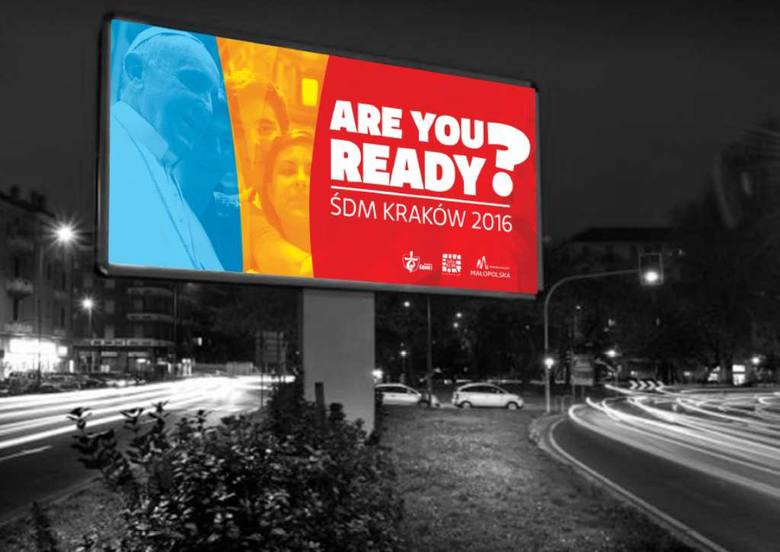 Tak ma wyglądać jeden z banerów będących dekoracją Krakowa na Światowe Dni Młodzieży