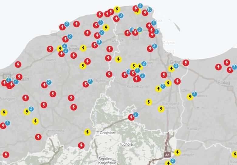 Awaryjne wyłączenia prądu na Pomorzu 24.09.2021 r.
