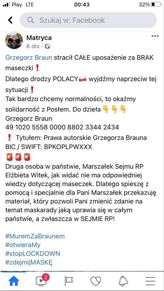 Grzegorz Braun organizuje piknik dla rodzin na Lisiej Górze w Rzeszowie. Co na to policja?