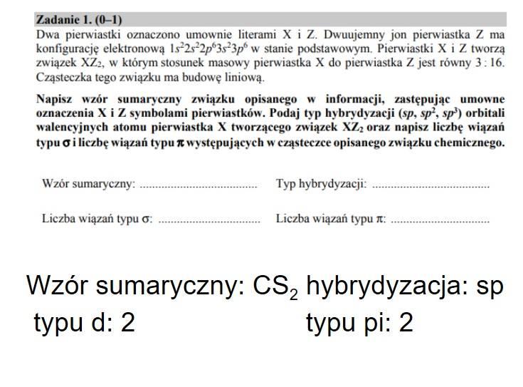 Chemia: Zobacz kolejne strony arkusza CKE i odpowiedzi --->