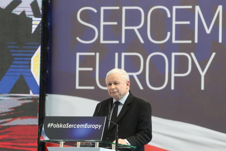 Wielka konwencja wyborcza PiS w G2A Arena w Jasionce k. Rzeszowa. Przemawiał Jarosław Kaczyński i Mateusz Morawiecki