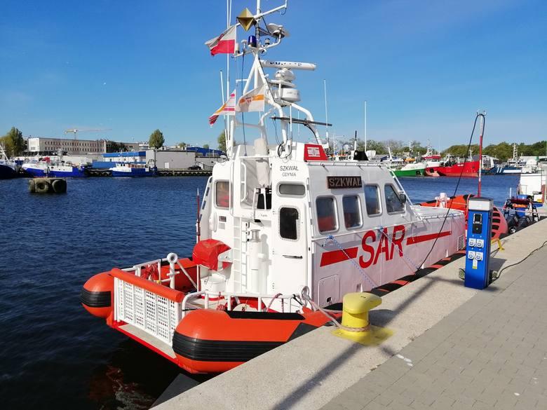 w środę rano kołobrzeski statek ratowniczy Szkwał pozostał w porcie