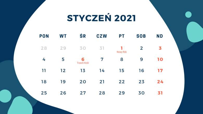 2021 rok rozpoczyna się niezwykle korzystnie. Na samym początku stycznia wystarczy wziąć 4 dni wolnego (4,5,7 i 8 stycznia) by uzyskać 10 dniowy url