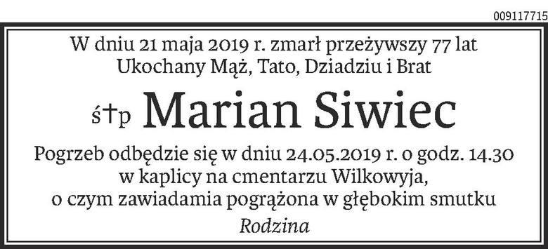 Nekrologi i kondolencje z dnia 23 maja 2019 roku