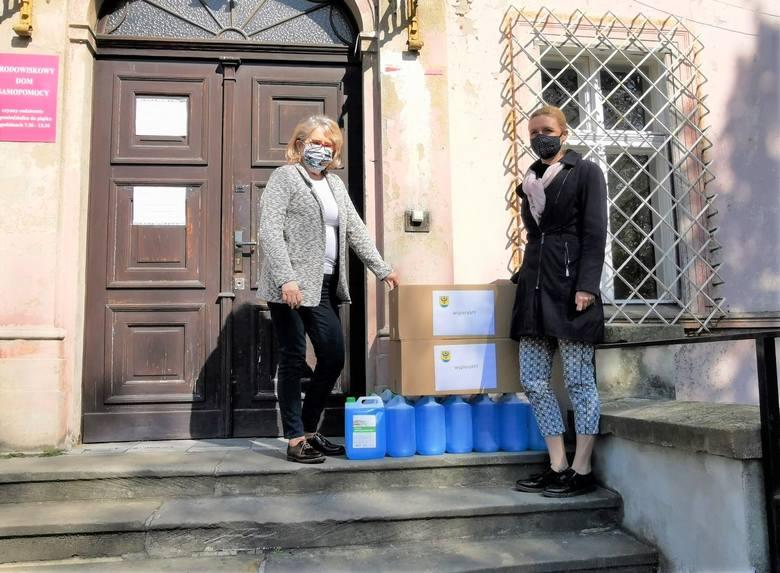MOPS dziękuje miasto za dostarczoną pomoc.