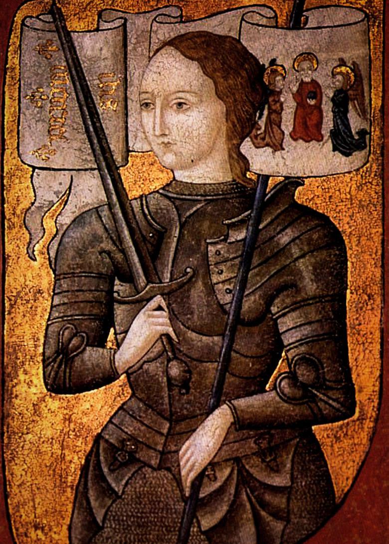 Joanna d'ArcNarodowa bohaterka i symbol zjednoczenia Francji, od 1920 r. jej patronka. Znana także jako Dziewica Orleańska, święta Kościoła katolickiego.